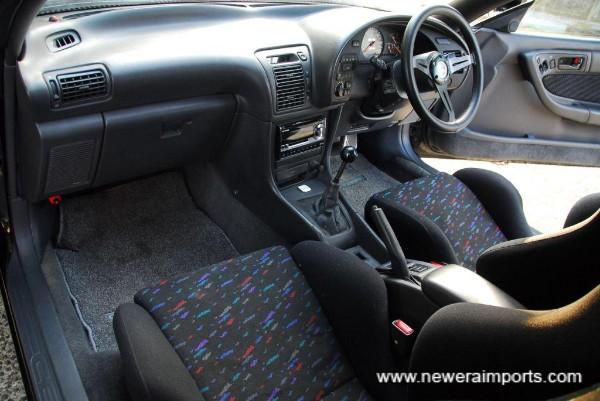 Original option Recaro front seats & matching interior trim.