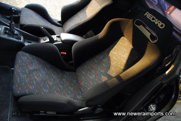 Seats are in excellent condition in keeping with low genuine mileage.