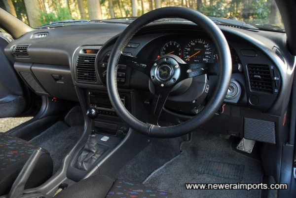 Steering wheel lifts as the ignition key is removed - a nice design feature.