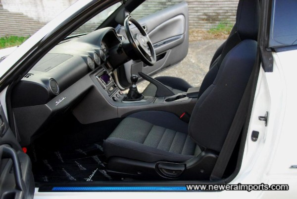 Interior is in excellent condition in keeping with low genuine mileage.