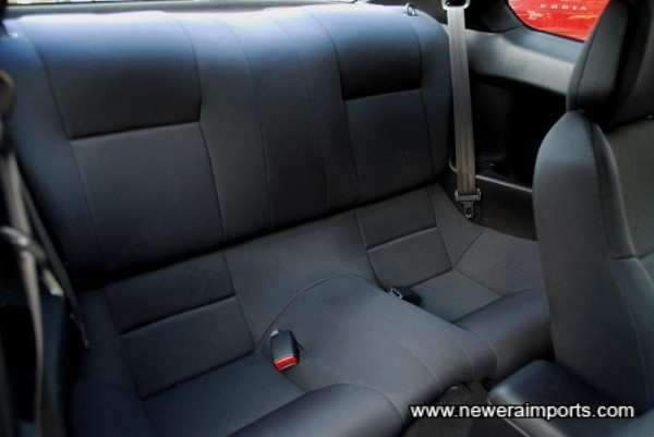 Rear seats are unworn, as they've barely been used.