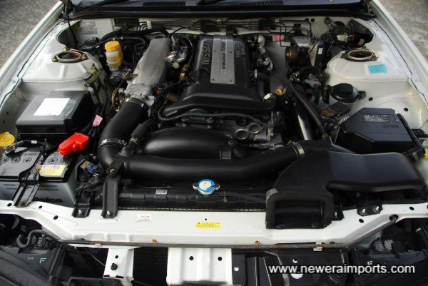 Engine bay in clean & tidy condition.