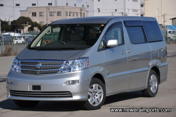 Alphard. The most popular high-quality people carrier made in Japan today.