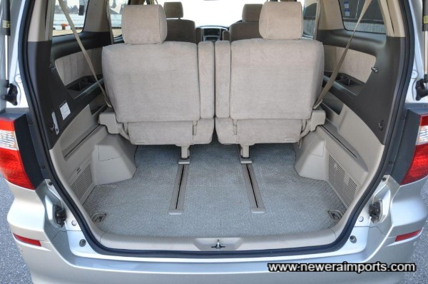 Back seats can also be slid forward to increase luggage space.