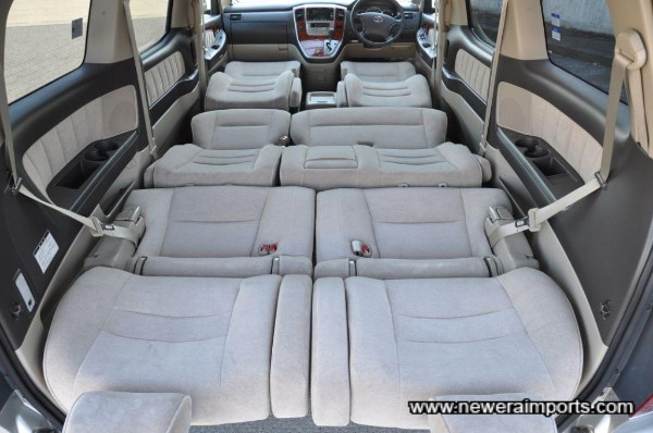 All seats fold to make a flat resting area.