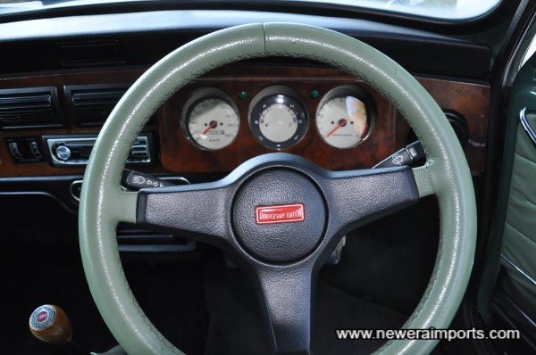 Original 35th anniversary edition steering wheel.