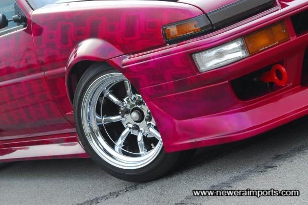 Stunning Watanabe R Type wheels and Run Free bodykit.