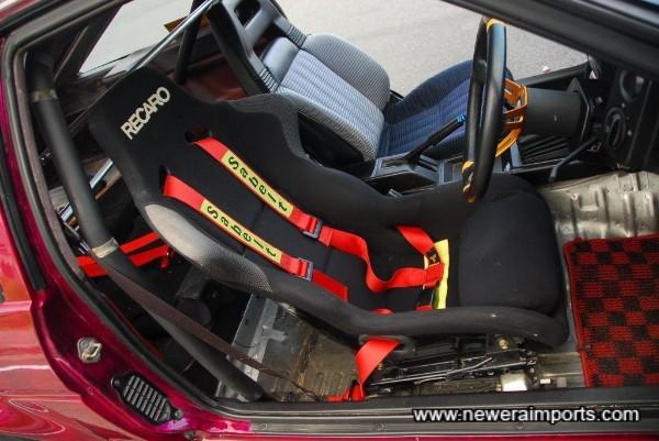 Recaro driver's seat is comfortable.