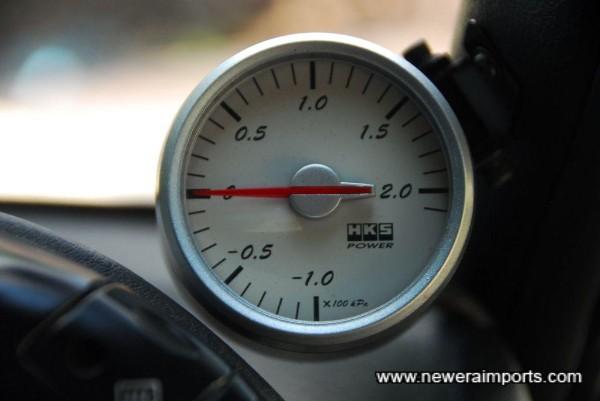 HKS Boost gauge.