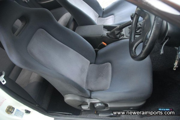 Driver's seat shows some wear - as can be expected of a car of this age.