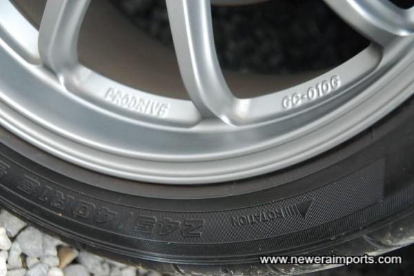 Yokohama Advan Neuva sports tyres (AD07) are super sticky!
