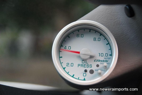 Excellent Oil pressure when cold.