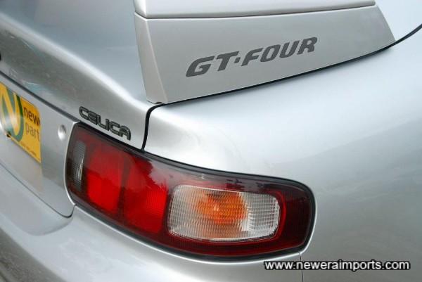 Original high level rear spoiler - WRC style.