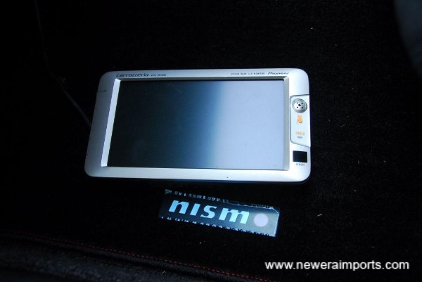 Sat nav screen for JDM system - note this system will not work in UK. May be possible to use for a DVD player however.