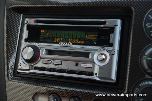 200W Kenwood audio is high quality.