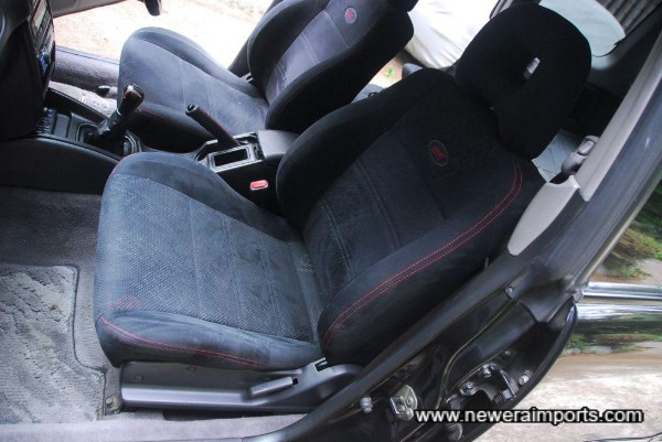 All seats are embossed with STi signature trim.