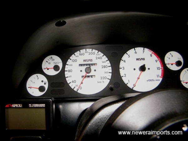 Nismo original gauge cluster - fitted since new.