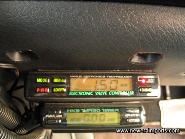 HKS EVC boost controller and turbo timer.