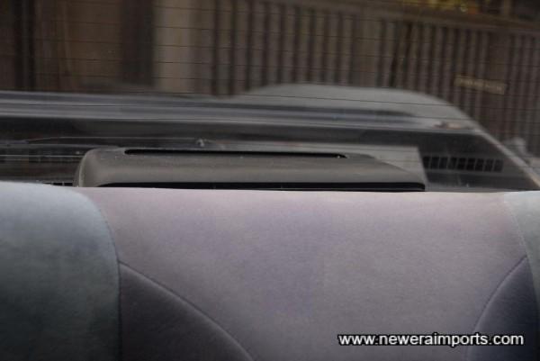 Rear mounted air purifier.