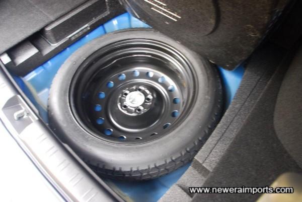 Spare wheel & tools are unused.
