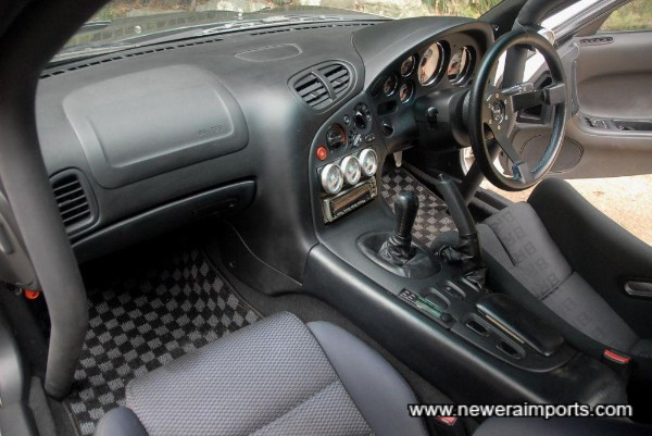 Interior is in good condition in keeping with low genuine mileage.