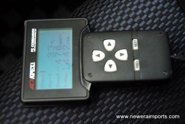 Power FC Controller with ECU mapped by RE-Amemiya.