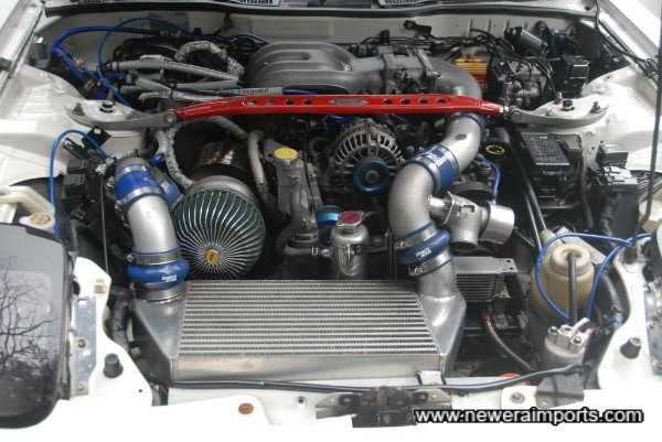 Engine bay is clean and tidily presented.
