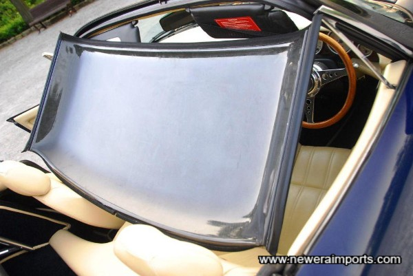 Carbon fibre roof stores behind the seats - picture here is to show material from which it's made.