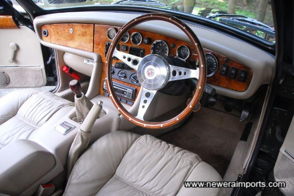 Stunning - fitted with a beautiful Mota Lita steering wheel.