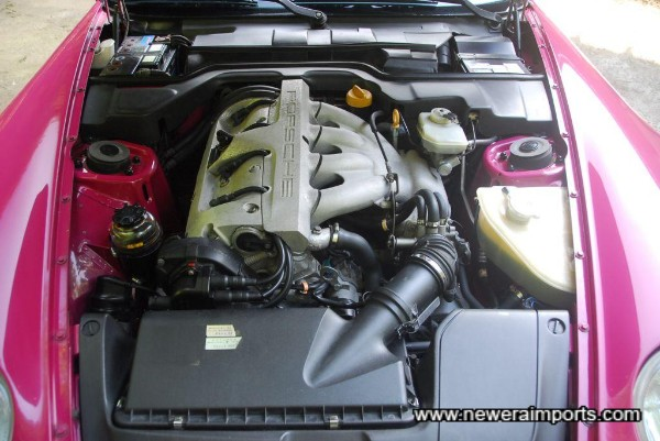 No corrosion in the engine bay either.