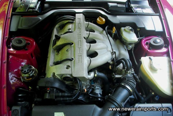 Engine bay is clean & tidy.