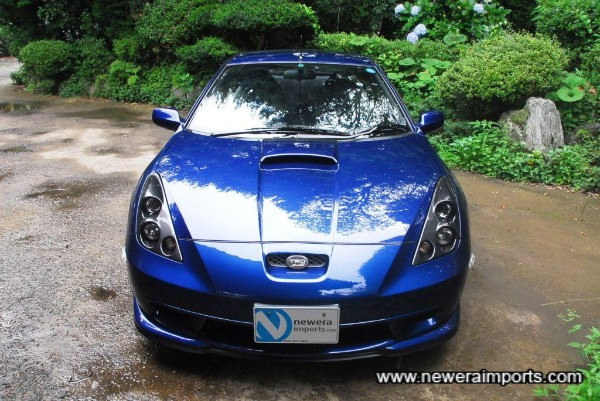 Headlights from TRD help transform the face of this Celica.