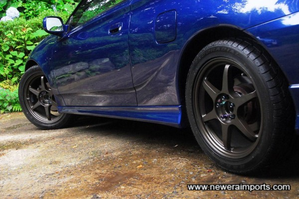 Buddy Club Racing P1 17 inch alloys are in perfect condition with no scratches or dings.