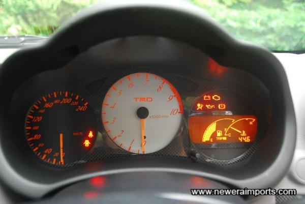 All warning lights present and correct.
