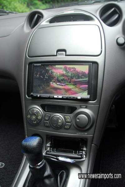 This Sat Nav system with reversing camera is being removed...