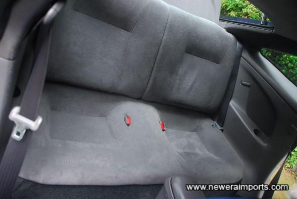 Rear seat is also unworn.