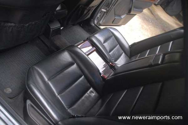 Rear seats are also unworn.