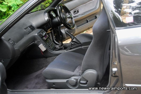 Interior is in excellent condition, from this GT-R having been mostly garaged since new.