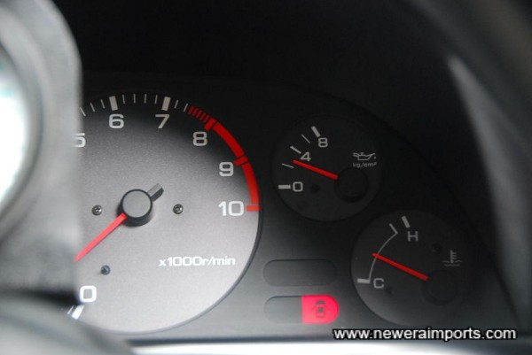 Oil pressure is over 2 kg/cm2 when cold - sign of a good healthy engine.