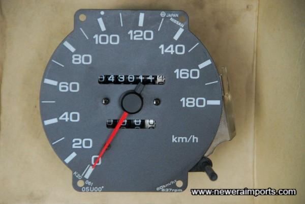 Original Speedo shows mileage at which the changeover was made to a Nismo Speedo.