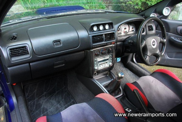 Interior is in excellent condition in keeping with being a non smoker's car since new.