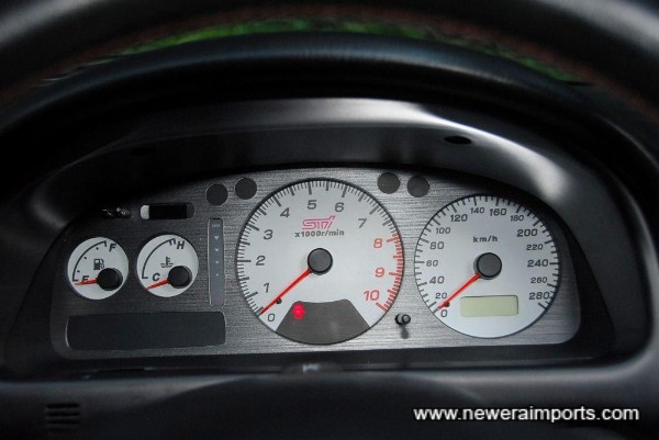 Original white faced instruments - note 280km/h speedo - fitted by Prova.