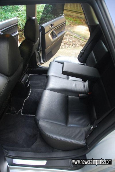 Rear seats have ISO FIX anchors for modern child seats & 3 point central seatbelt.
