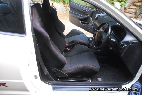 Driver's seat is unworn