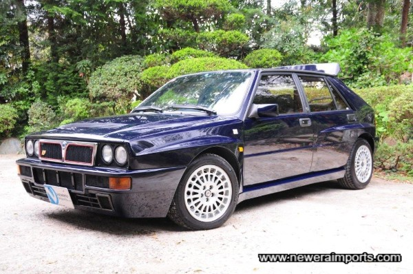 Supplied new in Japan, this Delta Integrale Evolution has never seen salt.