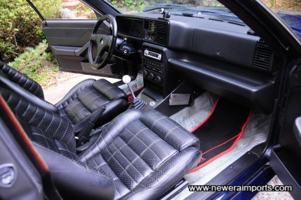 Full leather interior - in excellent condition throughout.