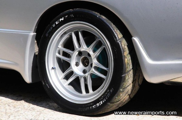 Note the project Mu rotor with Brembo caliper.