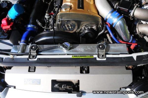 ARC cooling panel is titanium. Koyo large capacity radiator has original shround attached for viscous fan.