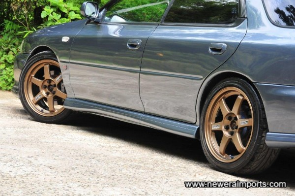 Genuine Volk Racing TE37 forged racing wheels are worth 2,000 GBP new!
