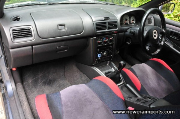 Interior has been well preserved in keeping with low genuine mileage.